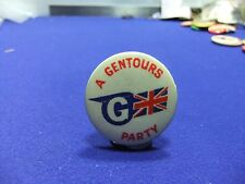 vtg badge a gentours party tourism holiday tin badge 1960s