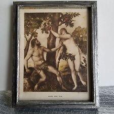 """LEVY ET SES FILS (LEVY SONS & CO.) ANTIQUE POSTCARD OF TITIANS """"ADAM AND EVE"""""""