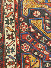 Antique rug Caucasian Shirvan rare lovely Carpet estate distressed  Worn AS IS