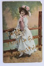 Old postcard JUST A SMILE FROM SUMMITVILLE, N.Y., 1910