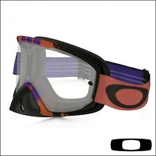 OAKLEY 02 MX MASCHERA MOTOCROSS PINNED RACE WARM RED PURPLE