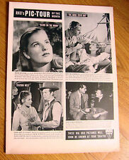 1948 Movie Ad RKO Pic Tour of the Month Greer Grant Powell Sothern Knox Geddes