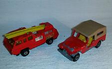 2x alte Spielzeugautos/Vintage toy cars MATCHBOX: CJ6 Jeep / Blaze Buster