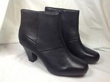 New Clarks Leather Ankle Boot Black 9W