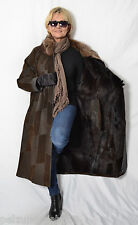 K136 Ziegenfell Leder Mantel Pelz Pelzmantel  Fur Leather Goatskin Coat 38 L