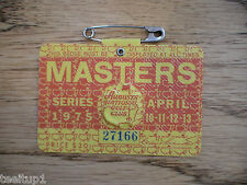 1975 MASTERS GOLF AUGUSTA NATIONAL BADGE TICKET JACK NICKLAUS 4th WIN VERY RARE