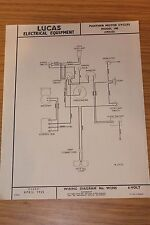 Panther Model 100D 1954-55 Lucas Electrical Equipment Original Wiring Diagram