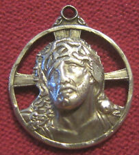 Vintage Catholic Religious Medal - STERLING - ECCE HOMO - Holy Face of Jesus