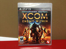 ** XCOM Enemy Within Commander Edition - PS3 - Brand New - Factory Sealed