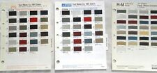 1987 FORD PPG SHERWIN WILLIAMS R-M DUPONT  COLOR PAINT CHIP CHART ALL MODELS