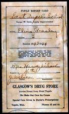 ELVIS PRESLEY REPRO 1944 SCHOOL REPORT CARD . NOT CD DVD