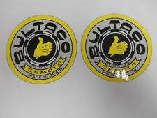 BULTACO VINTAGE MOTORCYCLE DECALS STICKERS 2 VINYL LAMINATE GLOSSY STICKERS