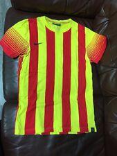 Nike Hombre Camiseta Top Rayas Tamaño S Amarillo Y Rojo