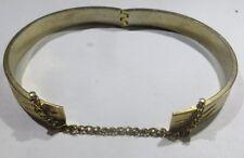 Bracelet esclave plaqué or articulé avec chaînette de sécurité