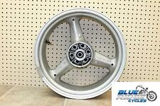07 HYOSUNG GV 650 AVITAR OEM REAR WHEEL BACK RIM STRAIGHT 17X5.5 TESTED