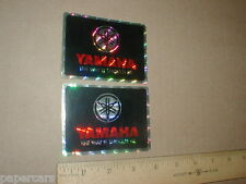 vintage 1970s 1980s Yamaha Motorcycle prism spacetape racing decal stickers x2