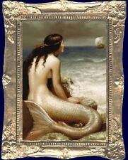 MERMAID OF THE SEA Dollhouse Picture - FRAMED Miniature Art - MADE IN AMERICA