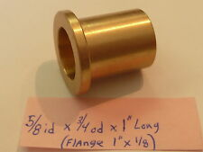 "Bronze Flange Bushing Bearing New 5/8"" id x 3/4"" od  x 1 Brass Engine Motor FB39"