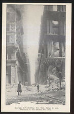 1912 POSTCARD NEW YORK CITY EQUITABLE LIFE BUILDING FIRE DISASTER #4 VIEW