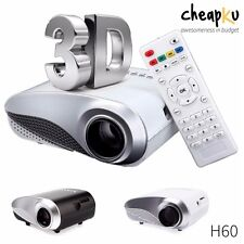 Hot  New H60 Home Cinema Theater Multimedia LED Mini Projector 3D HDMI HD