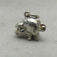 3D STERLING SILVER PIG CHARM