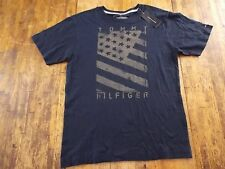 NWT Mens (S) TOMMY HILFIGER Navy S/S Graphic T-Shirt