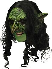 Goblin Mask Cosplay Scary Green Latex Chinless Gnome Troll Evil Horror 27539