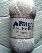 Patons Beehive Baby Fingering Yarn  Angel White