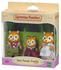 New! 5215 Sylvanian Families Red Panda Family Set inc 3 Figures Children Age 3+