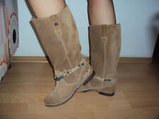Wrangler stivali camoscio beige da donna women flat suede boots 37