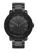 ADIDAS AMSTERDAM Black ION Stainless  Men's Watch ADH3002  FREE SHIP Retail $160