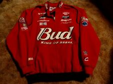 Men's BUD Dale Earnhardt Jr. Red Nascar Jacket Men's Size L Chase Authentics