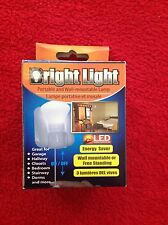 (2) BRIGHT LIGHT Portable and Wall Mountable Lamps LED For Closets Hallways NEW