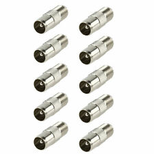 Pack of 10 F Connector Socket to Coax Male Plug TV Adaptor