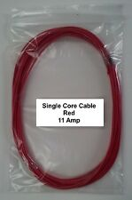 RED 12V / 24V AUTOMOTIVE 5 METERS 11 AMP SINGLE CORE THIN WALL CAR CABLE WIRE