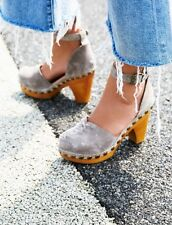 NIB Jeffery Campbell Free People Daubs Clog *grey Suede* Size 37 --sold Out--