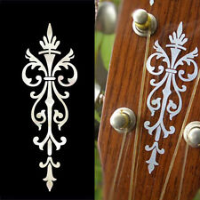 Small Torch (White Pearl) Inlay Stickers Decal Headstock Guitar Ukulele Mandolin