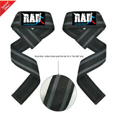 RAD One Pair Padded Weightlifting Straps,Bodybuilding,Gym Wrist Bar Support New