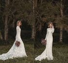 Elegant Lace Bohemian Long Sleeve Wedding Dress A-Line 2016 Country Bridal Gowns