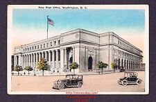 LMH WBE Postcard NEW POST OFFICE Building 1920s USPS Dept Terminal Station 2 Car
