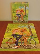Barbie on Wheels Puzzle Whitman 1982 Ken Bike 100 pieces Complete Christmas Gift