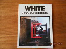 White tractor 2-50 2-60 Field bosses sales brochure