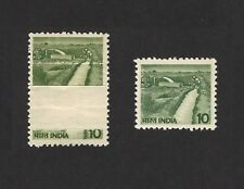 India 1979 Agriculture Irrigation 12.5mm PRE PRINTING PAPER FOLD error MNH