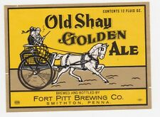 Old Shay Golden Ale Beer Label