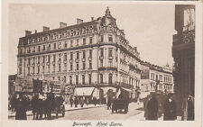 OLD POST CARD ROUMANIE ROMANIA BUCAREST BUCURESTI hotel luvru