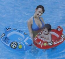 NEW RACE CAR Baby Care Seat Float Inflatable with Handle RED