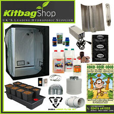 hydroponics system complete grow kit wilma 8plant with light tent canna feed fan