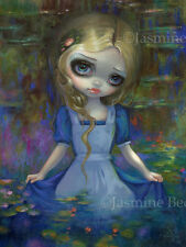 Jasmine Becket-Griffith art BIG print lily SIGNED Alice in Monet's Water Lilies