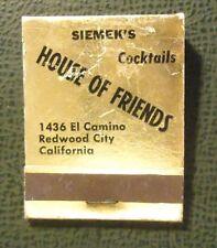 Matchbook - Siemek's House of Friends Redwood City CA FULL devil