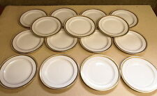 "15 Old Lenox China For Bailey Banks Biddle Gold Encrusted Plates - 8 7/8"" R-5"